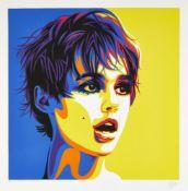 Rourke Van Dal, British b.1969- Andy's Girl (purple), 2019; screenprint in colours on 300gsm