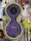 Takashi Murakami, Japanese b.1962- Genome No.10 7x2 122, 2009; offset lithograph in colours on wove,