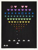 Static, British Active since 2006- Game ON!, 2015; screenprint in colours on wove, signed and