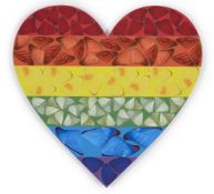 Damien Hirst, British b.1965- Butterfly Heart (small) [H7-4], 2020; laminated giclée print in