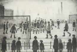 Laurence Stephen Lowry RBA RA, British 1887-1976- The Football Match; lithograph on wove, signed and