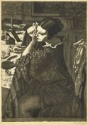 Dame Laura Knight DBE RA RWS, British 1877-1970- Powder and Paint, 1925; etching with aquatint on