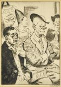 Dame Laura Knight DBE RA RWS, British 1877-1970- Some Clowns, 1930; drypoint etching on laid, signed