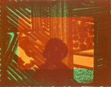 Sir Howard Hodgkin CH CBE, British 1932-2017- Artist and Model (in green and yellow), 1980; soft