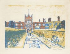 Julian Trevelyan RA, British 1910-1988- Jesus College, 1959-62; lithograph in colours on wove,