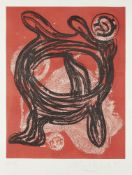John Hoyland RA, British 1934-2011- King, 1989; etching with aquatint on wove, signed, dated and