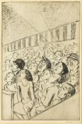Dame Laura Knight DBE RA RWS, British 1877-1970- Circus Audience; etching on laid, signed in pencil,