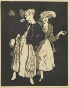Dame Laura Knight DBE RA RWS, British 1877-1970- Bank Holiday; etching with aquatint on wove, from