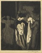 Dame Laura Knight DBE RA RWS, British 1877-1970- Untitled (ladies dressing); etching with aquatint