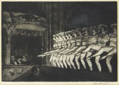 Dame Laura Knight DBE RA RWS, British 1877-1970- A Chorus, 1923; etching with aquatint on laid,