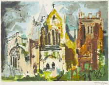 John Piper, British 1903-1992- Ottery St. Mary [Levinson 430], 1990; screenprint in colours on