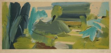 AMENDMENT: please note the image size is 37.3 x 84cm. Ivon Hitchens, British 1893-1979- For John Con