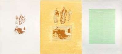 Henry Moore OM CH FBA RBS, British 1898-1986- Ideas from a Sketchbook and Four Standing Figures, [