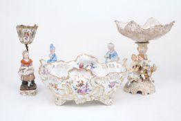 A collection of continental ceramic wares, early 20th century and later, to include: a Dresden