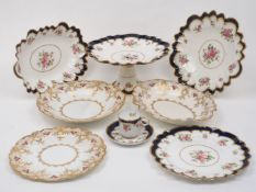 A George Jones & Sons Crescent set of coffee cans and saucers, late 19th / early 20th century,