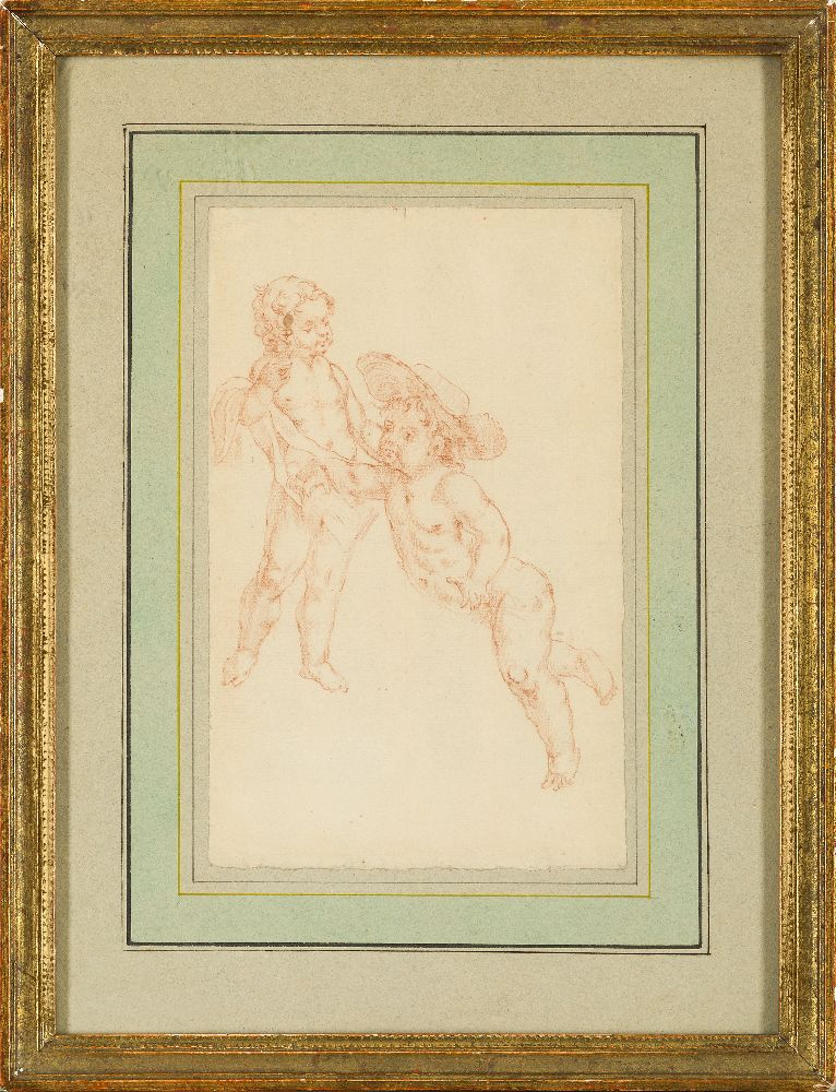 French School, mid-19th century- The Madonna and Child with the Infant Joseph; pencil and red - Image 5 of 7
