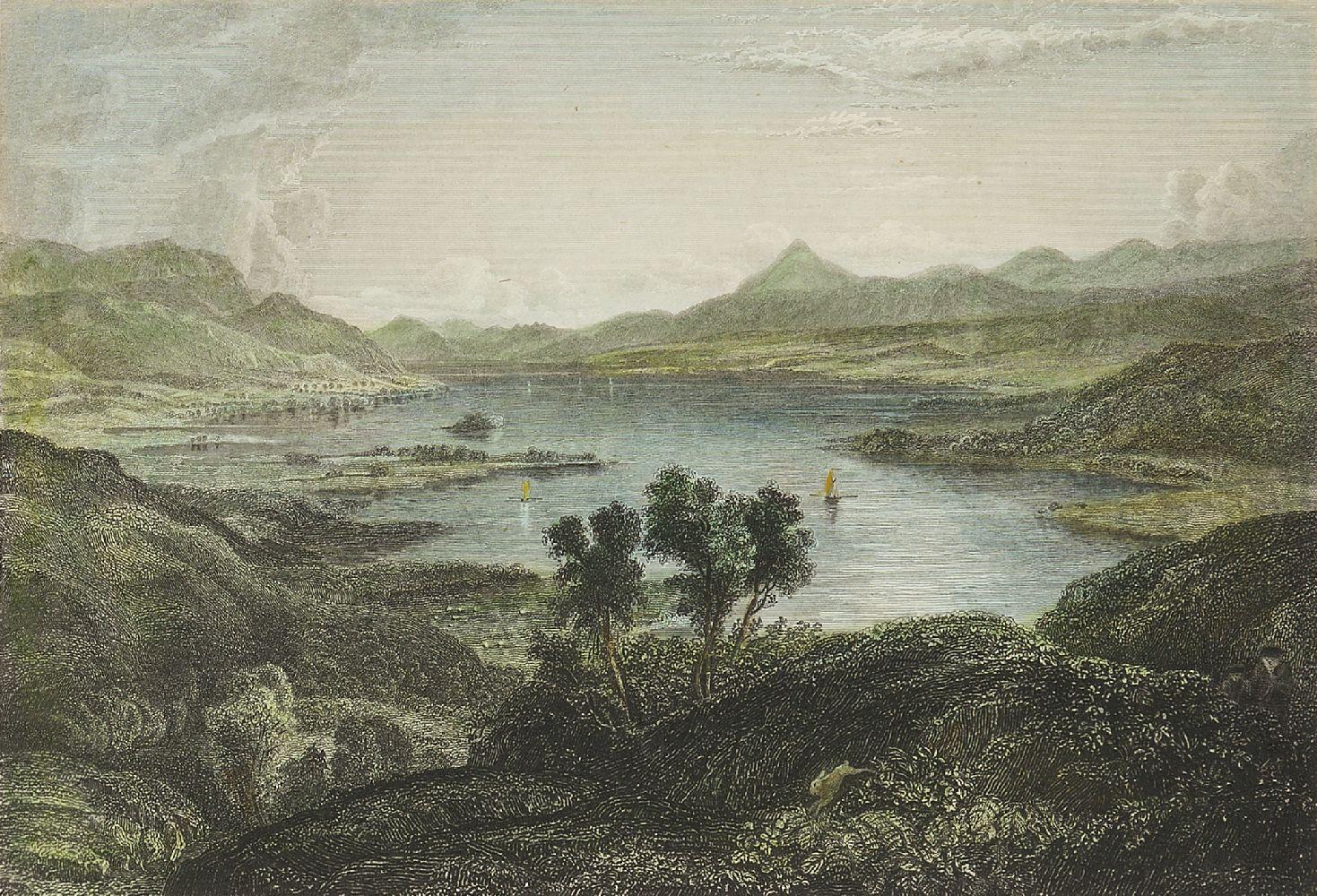 Joseph Swan, Scottish 1796-1872- Loch Arkeg, Loch Cullin and Loch Rannoch, after John Fleming; - Image 19 of 21