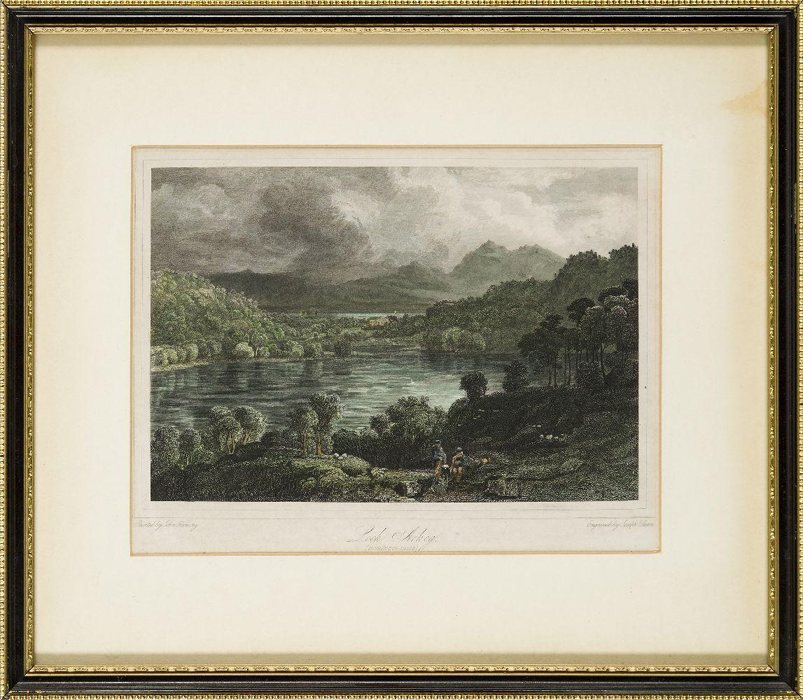 Joseph Swan, Scottish 1796-1872- Loch Arkeg, Loch Cullin and Loch Rannoch, after John Fleming;