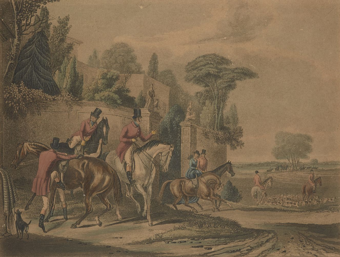 After Francis Calcraft Turner, British, c.1782-1846- Bachelor's Hall series; hand-coloured - Image 5 of 6