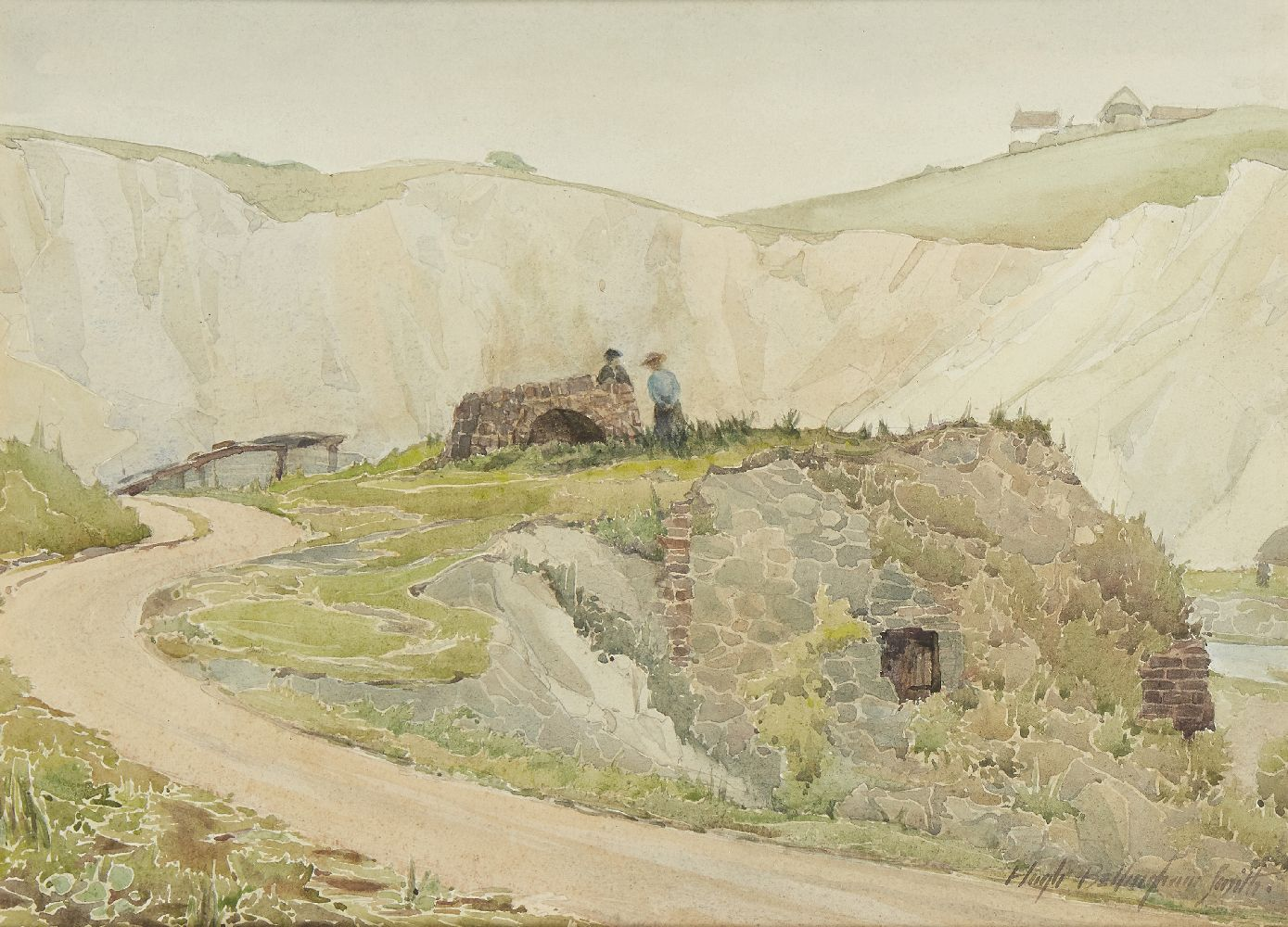 Hugh Bellingham Smith, British 1866-1922; Country lane; watercolour, signed, 24.5x34cmPlease refer - Image 3 of 3