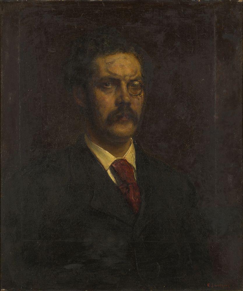 Edward John Gregory RA PPRBSA, British 1850-1909- Portrait of the late Charles John Galloway; oil on