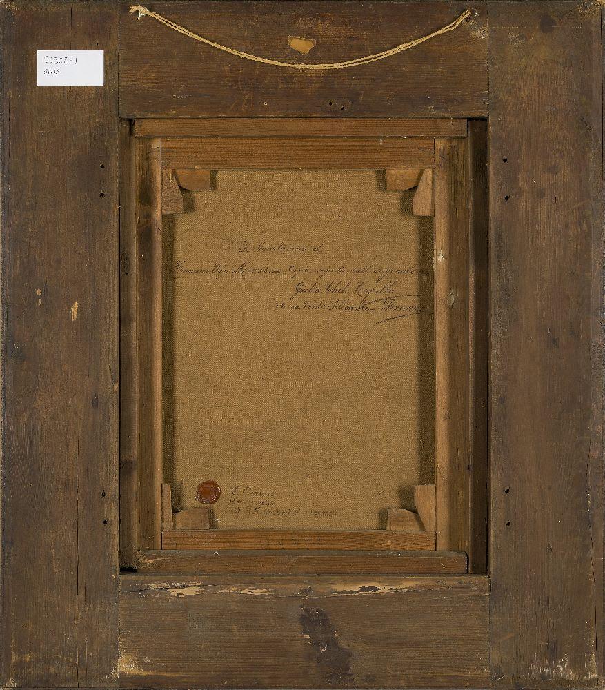 Giulia Cheli Capella, Italian 1875-1919- Il Ciarlatano, after Frans van Mieris the Elder; oil on - Image 3 of 3