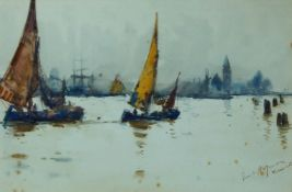 Frank Henry Mason RBA RI RSMA, British 1875-1965- Venetian scenes; watercolours, a pair, both