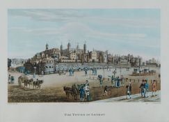 After Robert Havell, British 1793-1878- The Tower of London, The Horse Guards & Melbourne House;