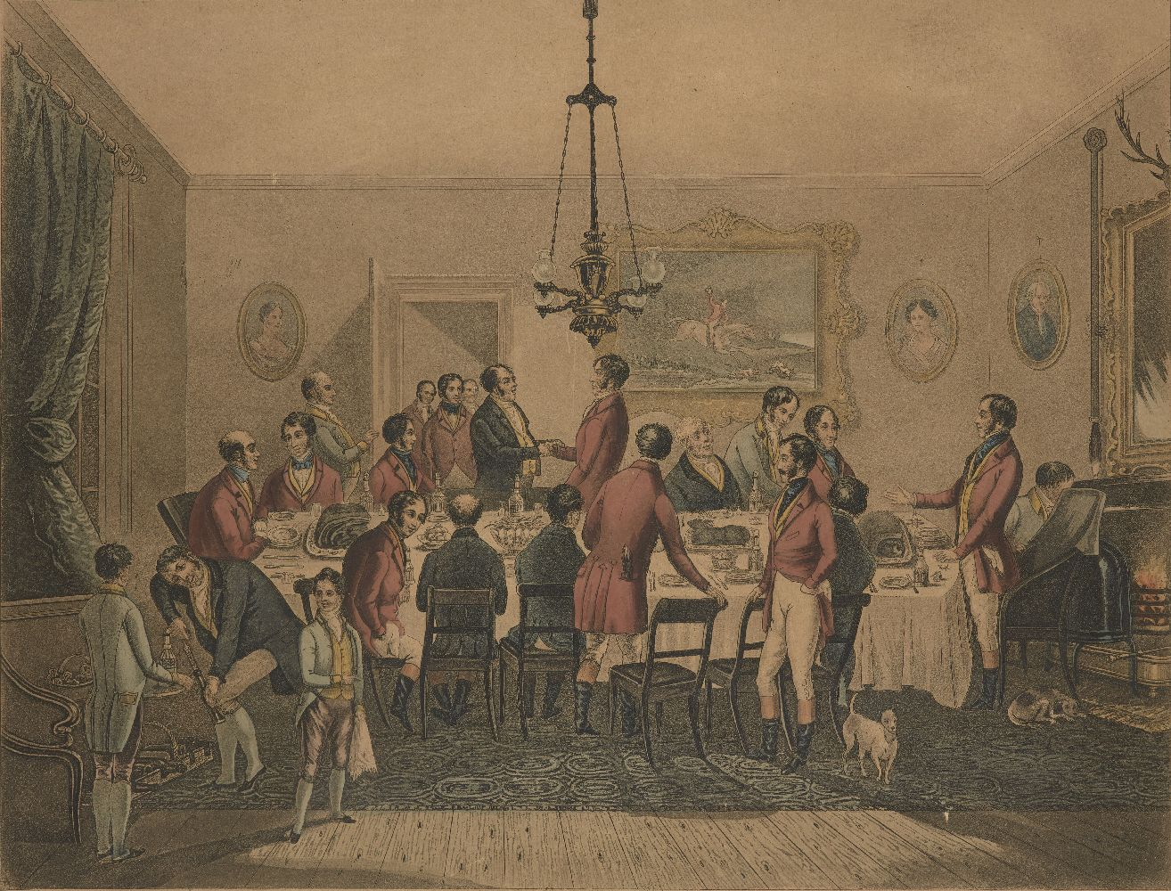 After Francis Calcraft Turner, British, c.1782-1846- Bachelor's Hall series; hand-coloured - Image 3 of 6