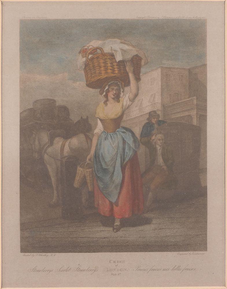 Giovanni Vendramini, Italian 1769-1839- Cries of London series, after Francis Wheatley RA; hand- - Image 3 of 4
