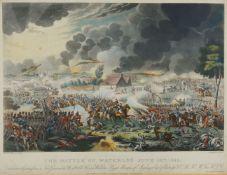 William Heath, British 1794-1840- The Battle of Waterloo June 18th 1815, aquatinted by Richard