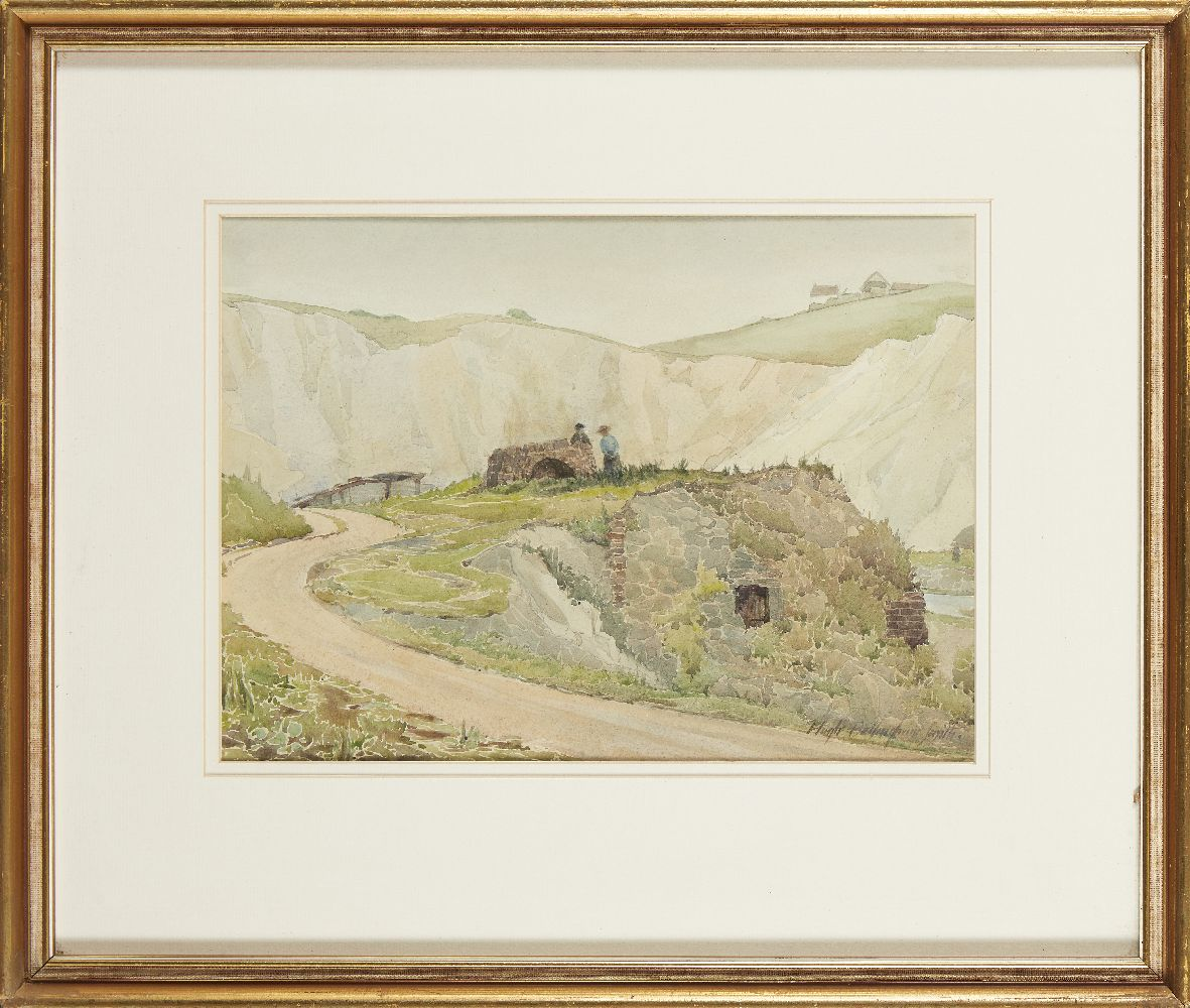 Hugh Bellingham Smith, British 1866-1922; Country lane; watercolour, signed, 24.5x34cmPlease refer