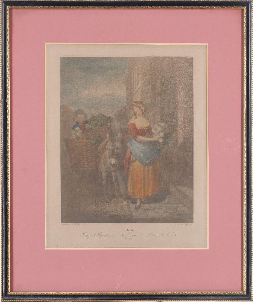 Giovanni Vendramini, Italian 1769-1839- Cries of London series, after Francis Wheatley RA; hand- - Image 2 of 4