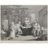 After William Hogarth FRSA, British 1697-1764- Marriage A-La-Mode series, Plates I - VI; copper