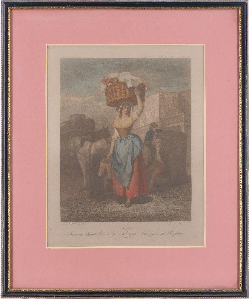 Giovanni Vendramini, Italian 1769-1839- Cries of London series, after Francis Wheatley RA; hand- - Image 4 of 4