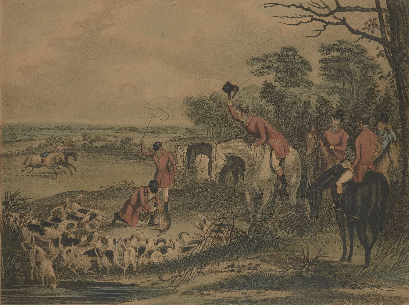 After Francis Calcraft Turner, British, c.1782-1846- Bachelor's Hall series; hand-coloured - Image 4 of 6