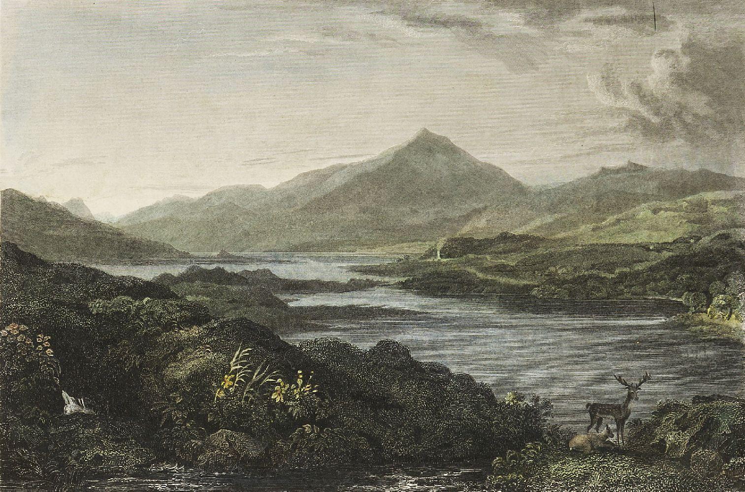 Joseph Swan, Scottish 1796-1872- Loch Arkeg, Loch Cullin and Loch Rannoch, after John Fleming; - Image 16 of 21