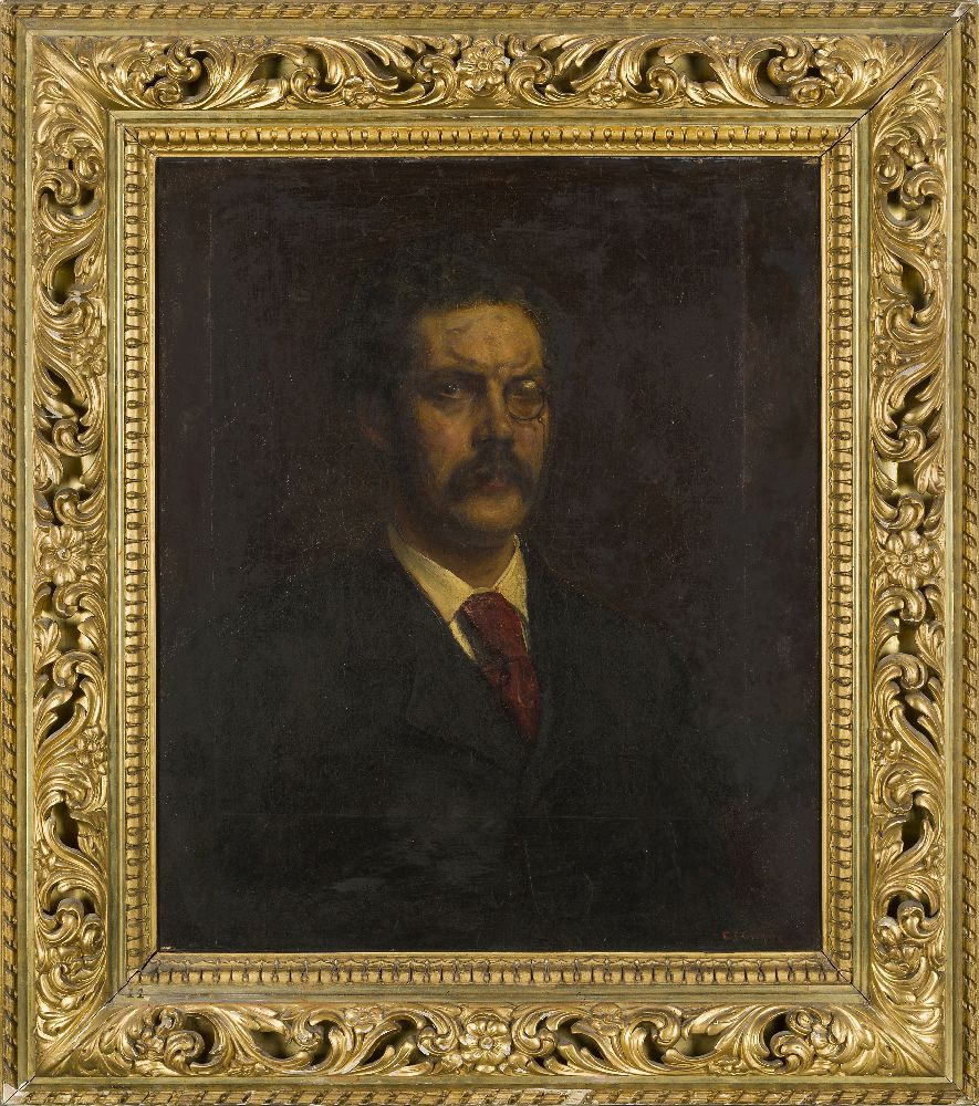 Edward John Gregory RA PPRBSA, British 1850-1909- Portrait of the late Charles John Galloway; oil on - Image 2 of 3
