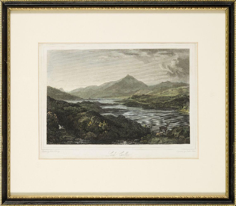 Joseph Swan, Scottish 1796-1872- Loch Arkeg, Loch Cullin and Loch Rannoch, after John Fleming; - Image 17 of 21