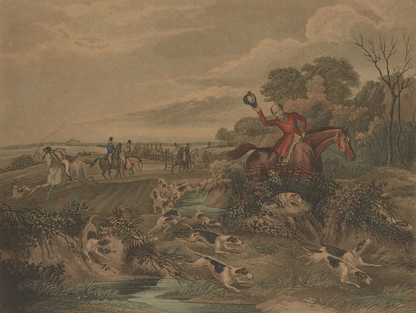 After Francis Calcraft Turner, British, c.1782-1846- Bachelor's Hall series; hand-coloured - Image 2 of 6