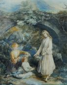Elizabeth Knight, British School, early 19th century- Emma, Gertrude and Ida Phipson; watercolour,