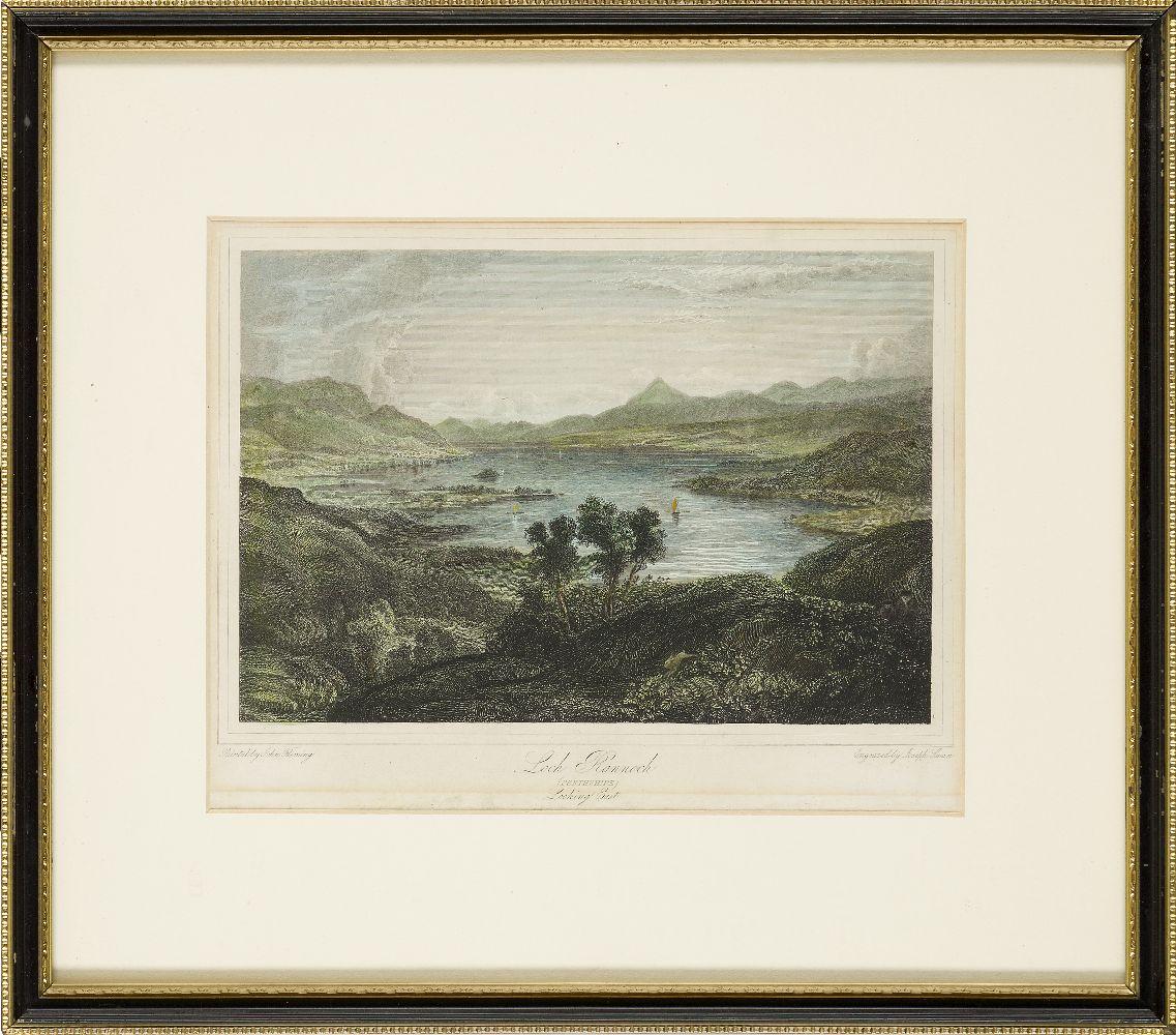 Joseph Swan, Scottish 1796-1872- Loch Arkeg, Loch Cullin and Loch Rannoch, after John Fleming; - Image 20 of 21