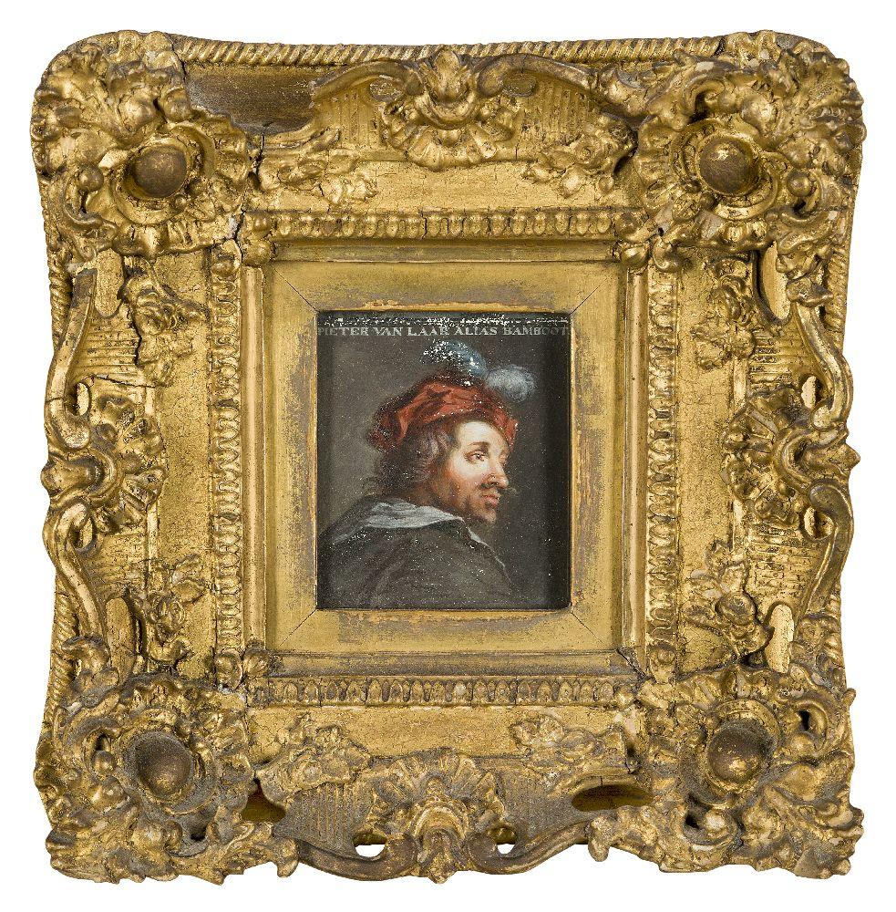 After Adriaen van Ostade, Dutch 1610-1685- Self-Portrait of the artist, after Jacob Gole; oil on - Image 5 of 6