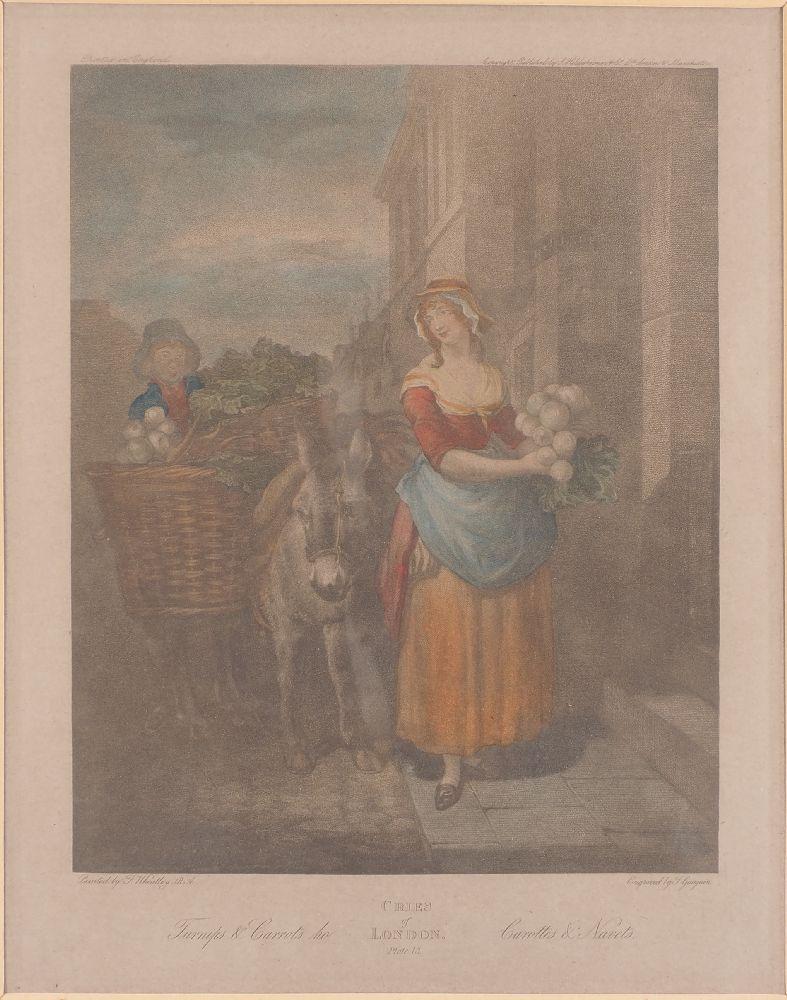 Giovanni Vendramini, Italian 1769-1839- Cries of London series, after Francis Wheatley RA; hand-