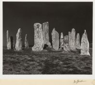 Fay Godwin, British 1931-2005- Black sky at Callanish, Lewis, from ACGB Series, 1980; reproduction