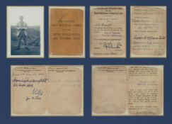 A framed Apprentice Motor Vehicle Services Mechanic card, dated '1942', mounted, framed and