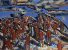 Nigel Mullins, South African b.1969- Continuum, 1997; oil on canvas, signed and dated, bears