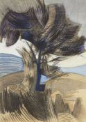 Silva Costa, Brazilian, late 20th/early 21st century- The Tree; gouache on paper, signed, 63 x