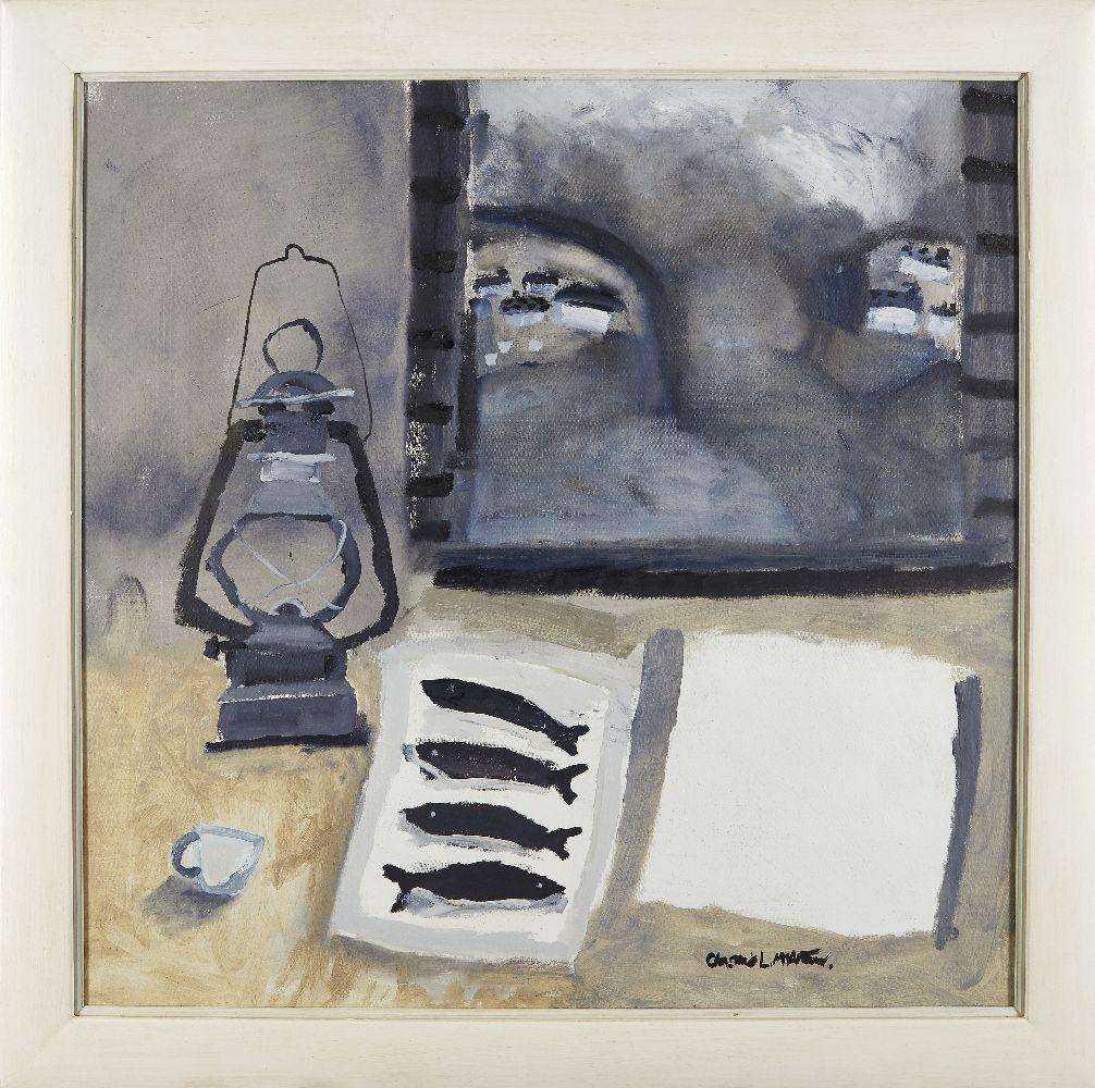 Christine McArthur, Scottish b.1953- Len Hunt's Beautiful Poem; oil on canvas, signed in black - Image 2 of 3