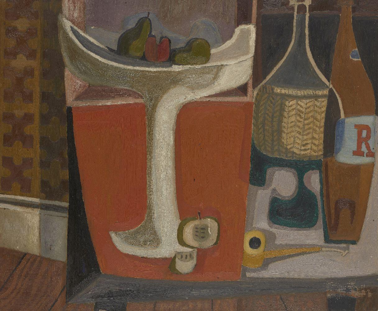 Scottish Post-War School, mid-20th Century- Cubist still life study; oil on board, 68.5x83.5cmPlease